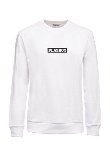 PLAYBOY Sweatshirt mit Marken-Logo