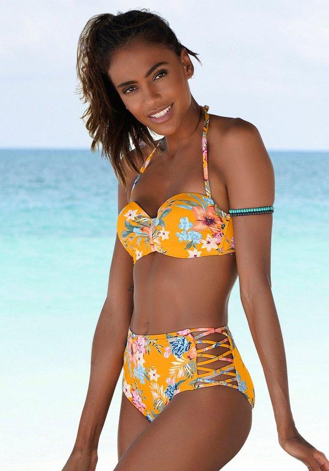 Bademode - Bench. Highwaist Bikini Hose »Maui«, mit gekreuzten Zierbändern ›  - Onlineshop OTTO