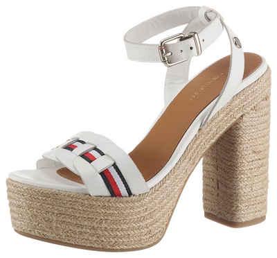 Tommy Hilfiger »TH INTERLACE HIGH HEEL SANDAL« High-Heel-Sandalette mit gestreiftem Textilband