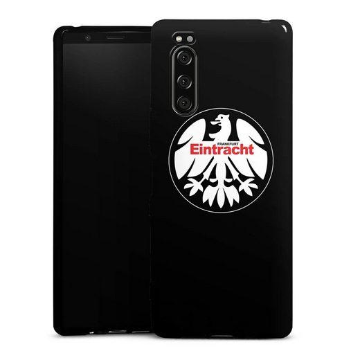 DeinDesign Handyhülle »Eintracht Frankfurt retro Adler« Sony Xperia 5, Hülle Offizielles Lizenzprodukt Eintracht Frankfurt SGE