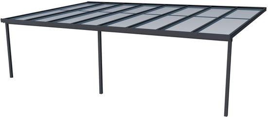 GUTTA Terrassendach »Premium«, BxT: 813x506 cm, Dach Polycarbonat gestreift weiß