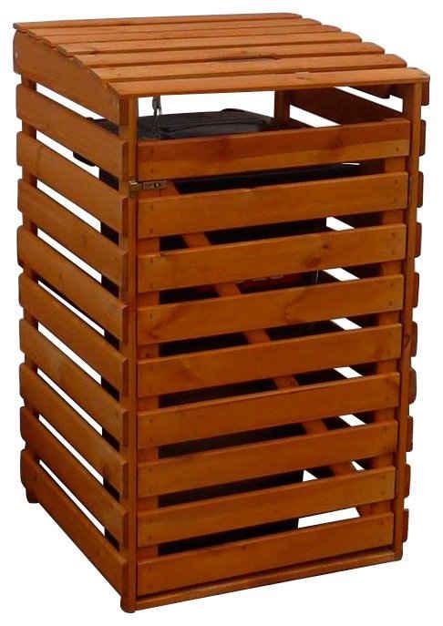 promadino Mülltonnenbox, für 1x240 l aus Holz, BxTxH: 67x90x122 cm