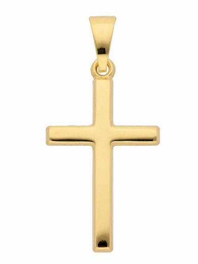 Adelia´s Kettenanhänger »333 Gold Kreuz Anhänger«