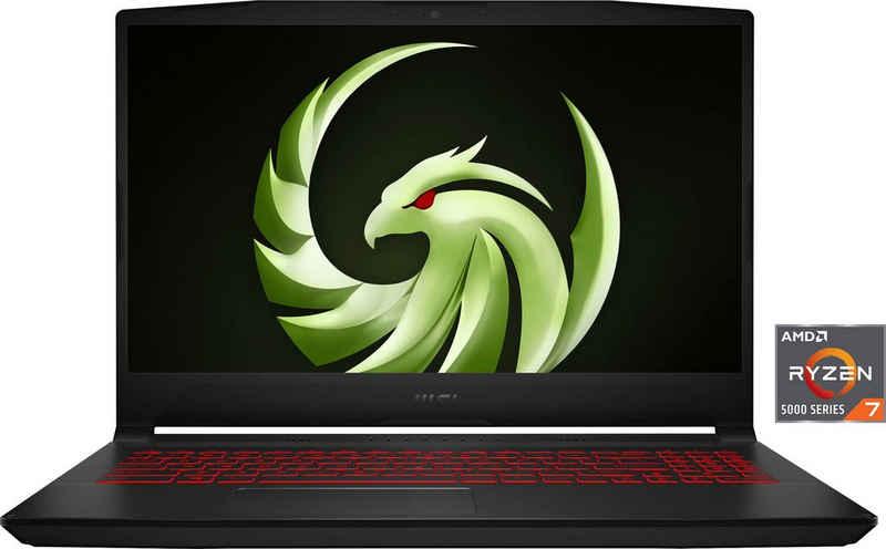 MSI B5DD-035 Gaming-Notebook (39,6 cm/15,6 Zoll, AMD Ryzen 7 5800H, Radeon RX 5500M, 512 GB SSD, Kostenloses Upgrade auf Windows 11, sobald verfügbar)