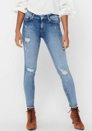 Only Skinny-fit-Jeans »ONLBLUSH LIFE« mit großen Destroyed Effekten