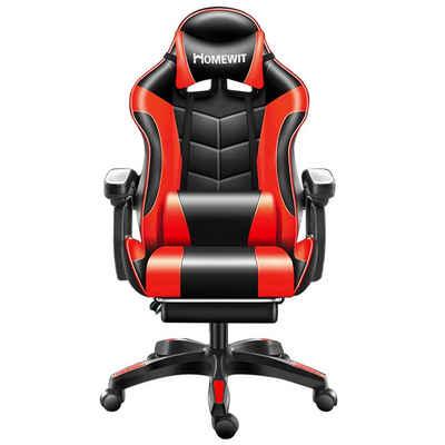 Homewit Gaming-Stuhl »ergonomischer Gamer Stuhl, Gaming Sessel Einstellbare Armlehne Einteiliger Stahlrahmen Einstellbarer Neigungswinkel, PC Stuhl für Gamer, Büro, Homeoffice usw.« (Set, 1 Stück), 1er-set