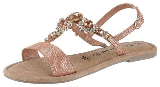 Tamaris »Tofa« Sandale mit auffälligen Schmucksteinen
