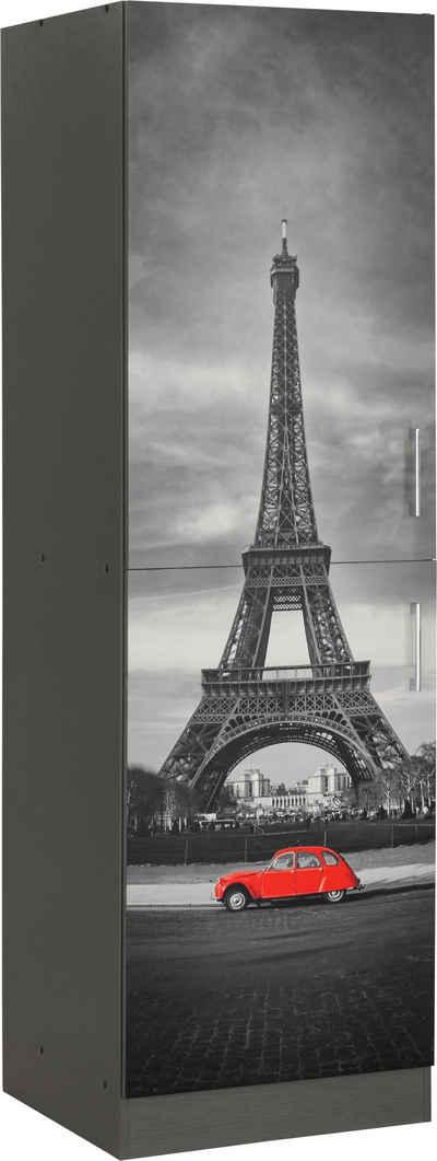 HELD MÖBEL Vorratsschrank »Paris« 60 cm breit, 200 cm hoch, für viel Stauraum, mit hochwertigem Digitaldruck