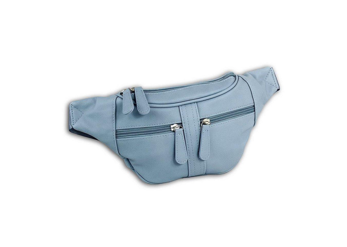 new bags -  Gürteltasche »OTD5023X  Damen Hüfttasche Gürteltasche« (Gürteltasche), Damen, Jugend Tasche softblau, ca. 35cm x ca. 5cm