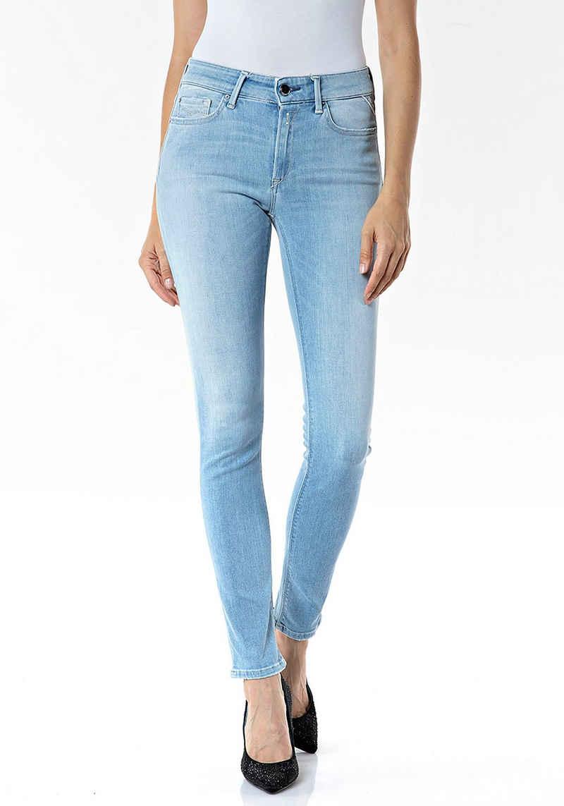 Replay Skinny-fit-Jeans »Luzien« Powerstretch mit dezenten Used-Effekten