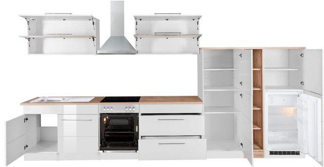 Einbauküchen - HELD MÖBEL Küchenzeile »Wien«, mit E Geräten, Breite 410 cm  - Onlineshop OTTO
