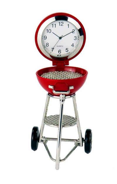 Siva Standuhr »Siva Clock Grill rot Quarzuhr aus Metall im Kugelg« (Set)