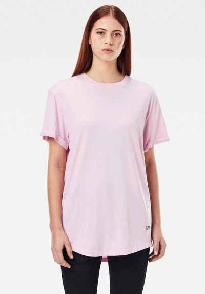 G-Star RAW T-Shirt »Lash Fem Loose Top« umgeschlagene Ärmel mit kleinen Naht fixiert
