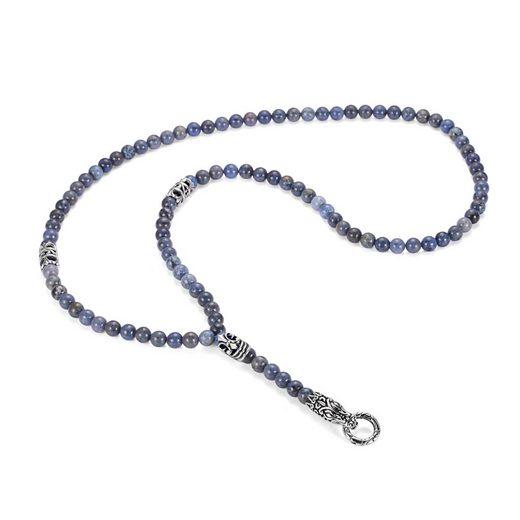 """Kingka Charm-Kette »""""Urban Rocks"""" Coole Beads Kette aus Edelstahl im Reptil Design mit echten Dumortierit Steinen und Ringverschluss für die Einklinkung von Anhängern. Passend für alle """"Urban Rocks"""" Einhängern«, mit Drachenelement"""