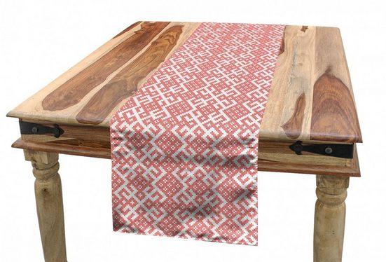 Abakuhaus Tischläufer »Esszimmer Küche Rechteckiger Dekorativer Tischläufer«, Russisch Monochrome slawische Motive