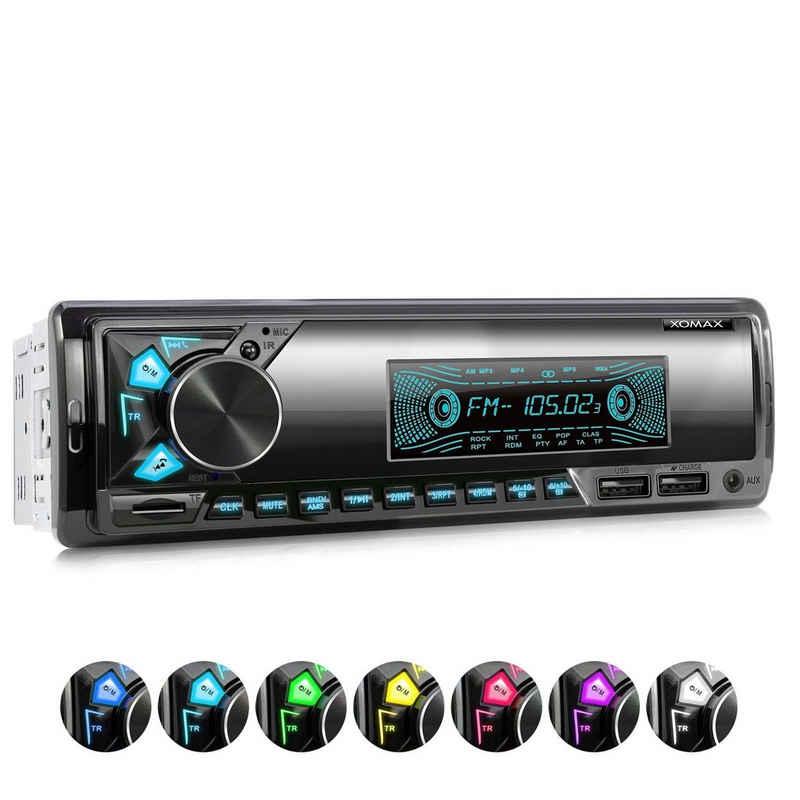 XOMAX Autoradio (XOMAX XM-R278: 1DIN, Autoradio mit Bluetooth, USB, AUX IN, ohne Laufwerk)