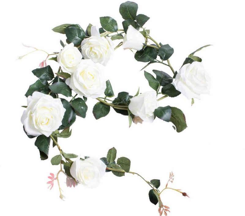 Kunstblume »Rosengirlande Dijon« Rose, Botanic-Haus, Höhe 10 cm