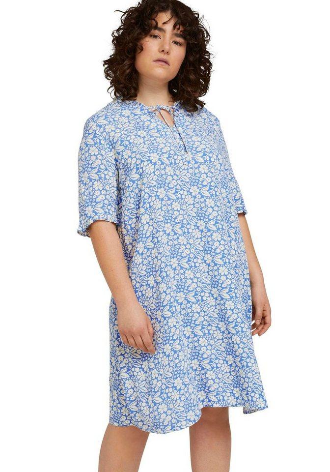 tom tailor my true me -  Blusenkleid mit Rüschen und Blumen-Muster