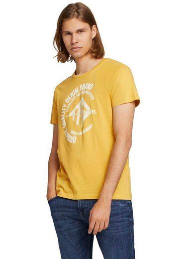 TOM TAILOR Denim T-Shirt mit Logo-Frontprint