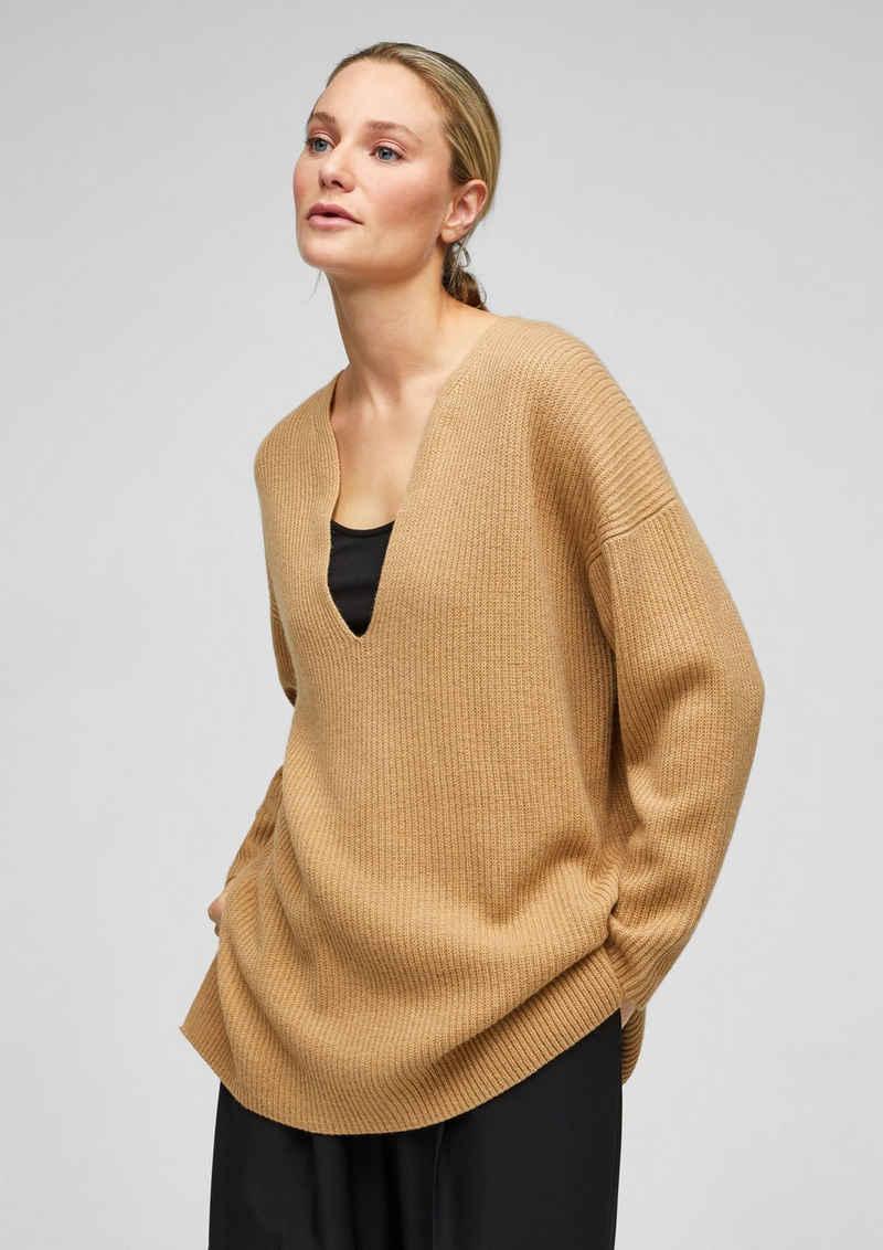 s.Oliver BLACK LABEL Strickpullover »Long-Pullover aus edlem Kaschmirmix« (1-tlg)