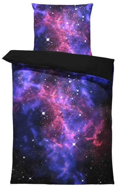 Bettwäsche »Weltall«, One Home, Galaxie und Sterne 2 Teilig