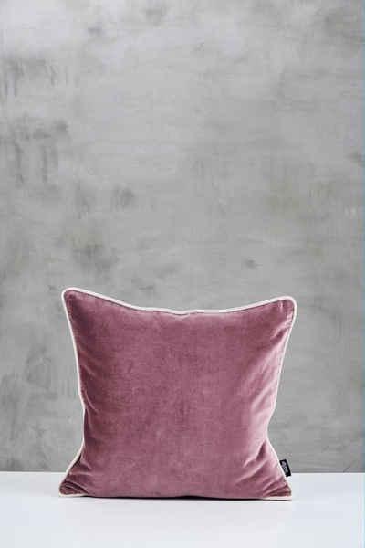 carla&marge Dekokissen »Daskia«, 45x45 cm, ein Retroklassiker aus kuschelweichem Samt