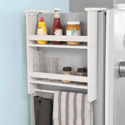SoBuy Hängeregal »FRG150«, für Kühlschrank mit 5 Haken Küchenregal Gewürzregale