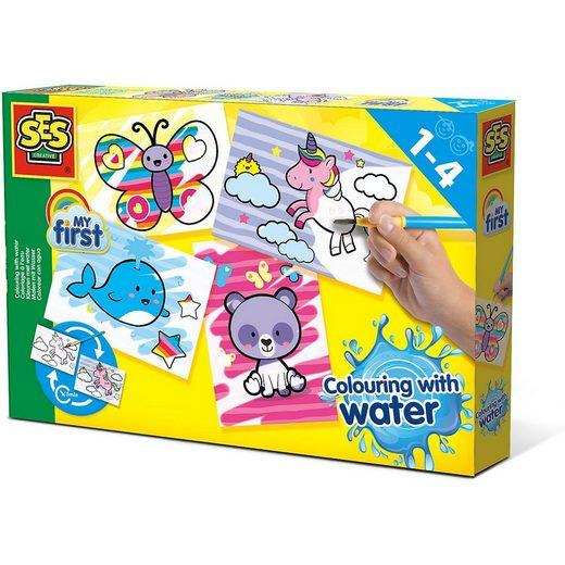 SES Creative Malvorlage »Malen mit Wasser - Fantasietiere«