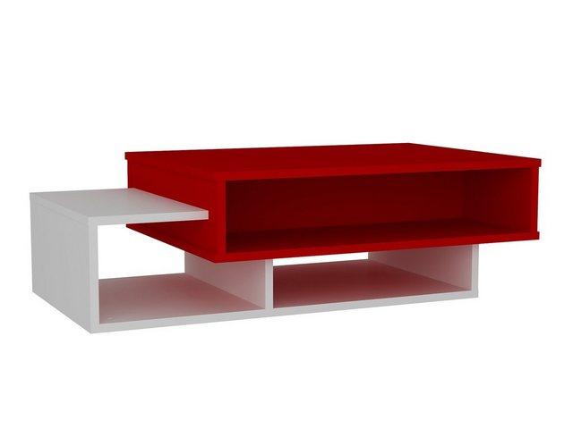 Wohnzimmertische - moebel17 Couchtisch »Couchtisch Tab Weiß Rot«  - Onlineshop OTTO