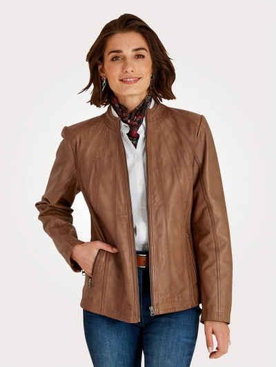 Mona Lederjacke aus weichem Lamm-Nappaleder