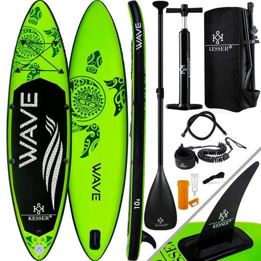 KESSER SUP-Board, Stand Up Paddleboard Aufblasbar Set Premium Surfboard Wassersport 6 Zoll Dick Komplettes Zubehör 130kg