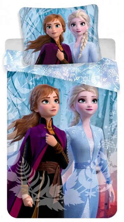 Kinderbettwäsche »Die Eiskönigin Anna Elsa - Kinder Bettwäsche Set 140x200 cm Deckenbezug Frozen 870«, Disney Frozen