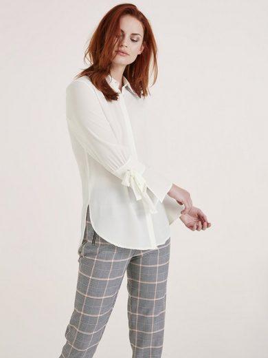 Bluse mit Hemdblusekragen
