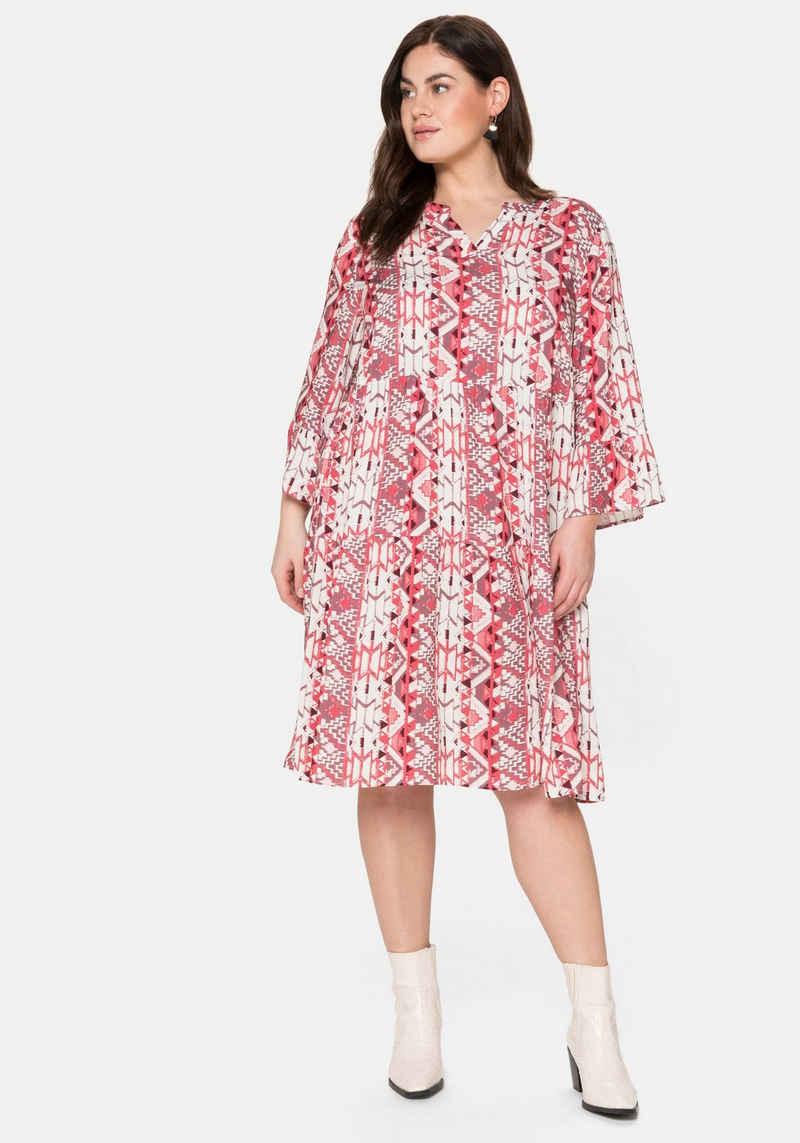 Sheego Sommerkleid im Mustermix, jedes Teil ein Unikat
