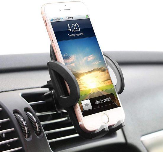 ilikable »Handyhalterung für Auto - ilikable Air Vent Autohalterung mit 360 Drehung und Entriegelungsknopf für Handy iPhone Smartphone Android GPS Geräte - Schwarz« Handy-Halterung