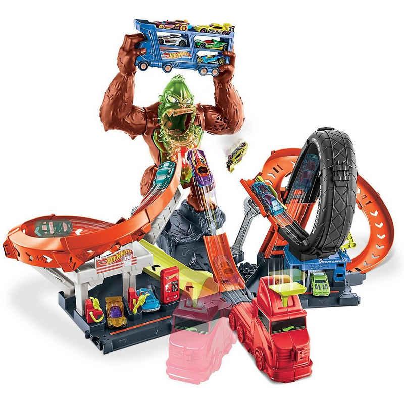 Mattel® Autorennbahn »Hot Wheels City Slam Gorilla mit Geräuschen,«