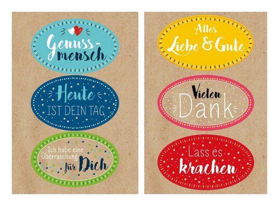 Braun+Company Atelier Sticker »Bunte Wünsche«, 12 Stück