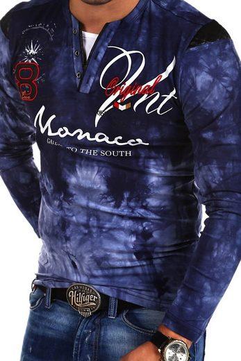 behype Langarmshirt »P-Monaco« mit Stickereien und Prints
