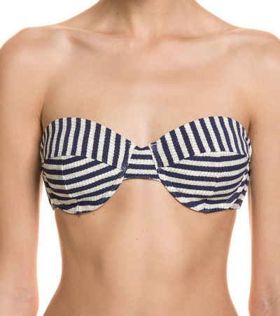 Billabong Bandeau-Bikini-Top »BILLABONG Beach Beauty Bustier stylisches Damen Bikini-Oberteil Bademode Blau/Weiß gestreift«