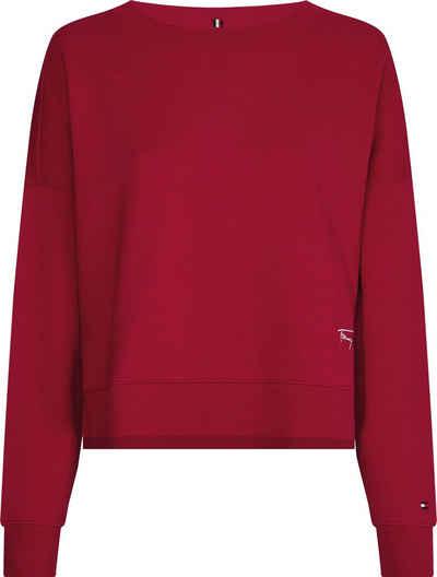 Tommy Hilfiger Sweatshirt »Oversized Script Open-Nk« mit verspieltem TTommy Hilfiger Logo-Schriftzug an der Seite