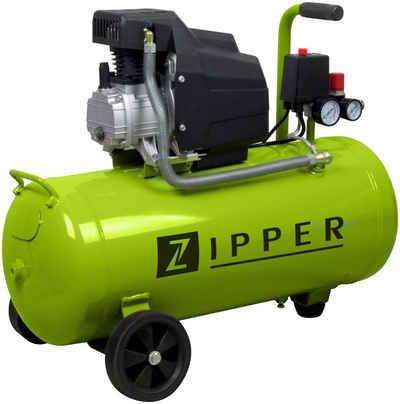 ZIPPER Kompressor »ZI-COM50E«, 1100 W, max. 8 bar, 50 l