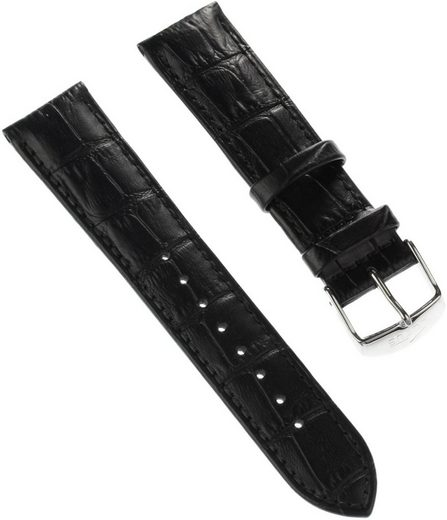 Lotus Uhrenarmband »ULA18216/S Lotus Herren Uhrenarmband 23mm«, Herren Uhrenarmband, Lederarmband schwarz, Sport