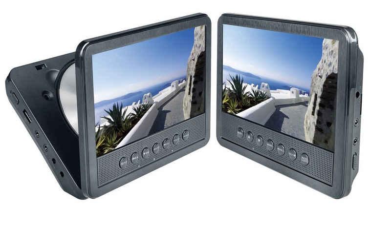 Reflexion »DVD7052« Portabler DVD-Player (Auto DVD-Player Auto 17,8 cm (7 Zoll) mit 2 Bildschirmen, USB, Kopfhörer-Ausgang, 12 Volt-Adapter, Halterung Kopfstütze)