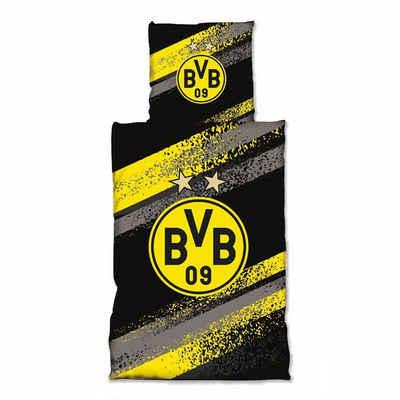 Bettwäsche »Graffiti Streifen«, Borussia Dortmund