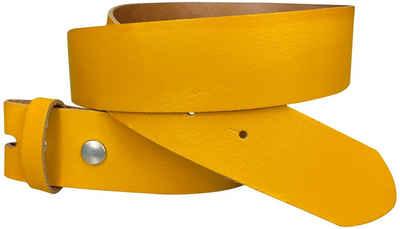 FRONHOFER Ledergürtel »18267« Wechselgürtel 4 cm, Gürtel ohne Schnalle, Gürtel mit Druckknopf