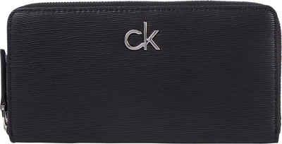 Calvin Klein Geldbörse »Z/A WALLET LG WAVE PU«, in schlichter Optik