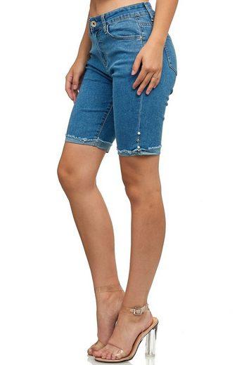 Egomaxx Jeansshorts »3216« Damen Jeans Shorts