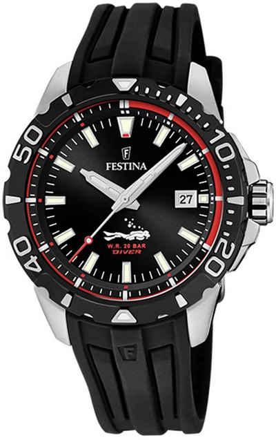 Festina Quarzuhr »UF20462/2 Festina Herren Uhr F20462/2 PU«, (Analoguhr), Herren Armbanduhr rund, PURarmband schwarz