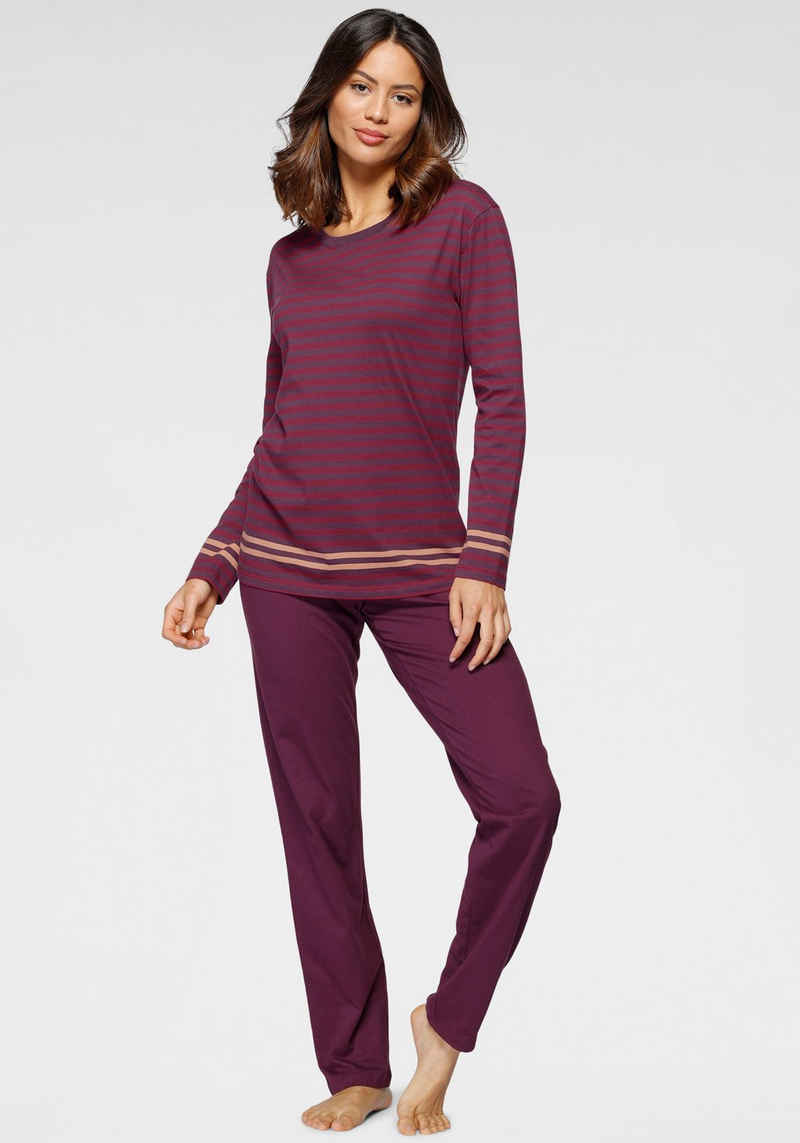 Schiesser Schlafanzug mit Streifenprint