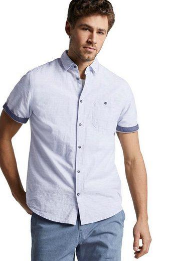 Schlussverkauf TOM TAILOR Kurzarmhemd mit verschließbarer Brusttasche